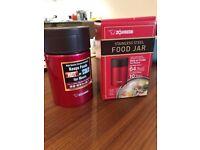 Zojirushi Stainless Steel Food Jar, 19 oz/0.55 L, Metallic Red