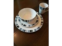 Sainsbury's Dinnerware sets 2 sets (serves 8 ) and 4mugs