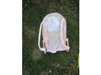 BABY ANNABELL PINK DOLLS ROCKING/ CARRY CHAIR GOOD CONDITION HOURS OF PLAY TIME