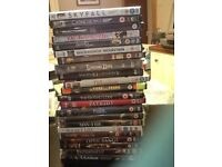 20 DVDs for sale. Mainly thrillers. Some still unopened.