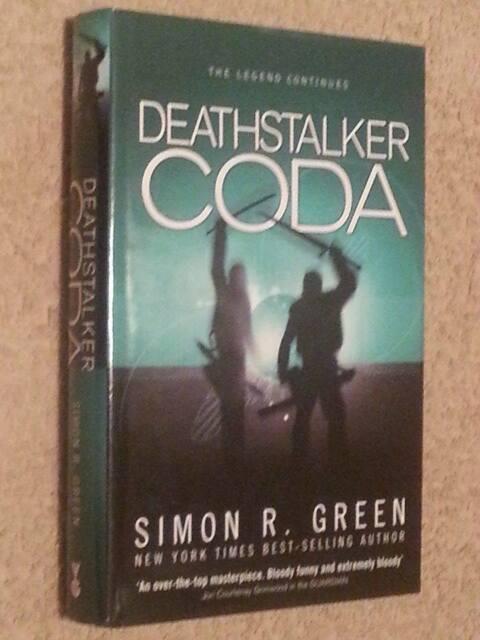 Simon R Green SIGNED Deathstalker Coda UKHC 1st Edn