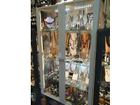 IKEA STOCKHOLM GLASS DISPLAY CABINET UNIT SHOP JEWELLERY