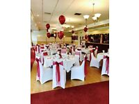 Wedding chair cover hire £1.50
