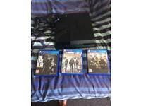 PS4 Bundle, 500gb, 3 Games, 1 Pad