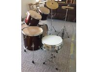 selling my drum kit. it has been used but is in fair condition perfect for learners.