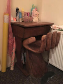 Vintage School Desk for sale with ink well