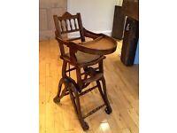 Victorian child's metamorphic chair