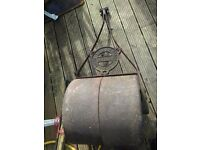 vintage ransomes, sims and jefferies large grass roller