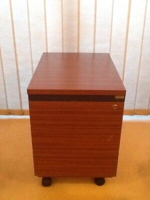 Office Drawers Filing Cabinet Heavy Wood 'Project Brand' With Keys Lockable