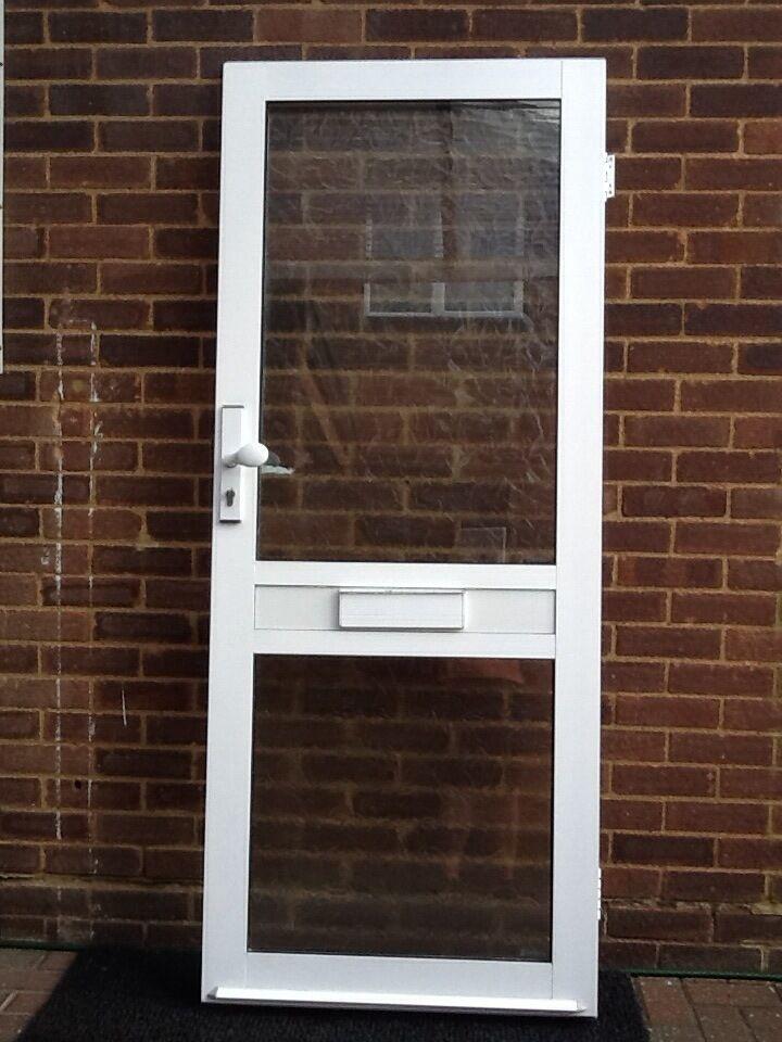 Aluminium Exterior Glazed Door With Frosted Glass Lock Key