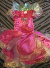 BARBIE FAIRYTOPIA PINK FAIRY DRESS UP AGE APPROX 4/6 YEARS OLD