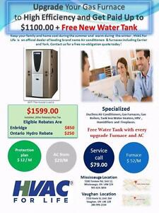 York Gas Furnace $1599  After Rebate +Tax