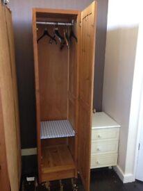 Wooden pine single wardrobe