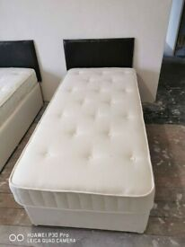 High Quality Single Size Divan Bed & Luxury Mattress Quick Delivery