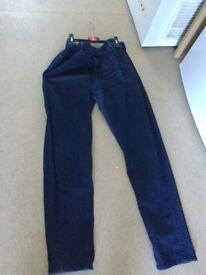 ladies denim co dark blue jeans size 16