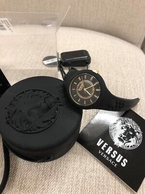Versus Versace  Fire Island Black Silicone Women's Watch MSRP $135