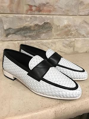 NIB Chanel 17C Black White Braided CC Mule Loafer Moccasin Oxford Flat 37 $1150