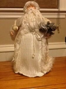 Ivory Victorian Santa 16inches tall