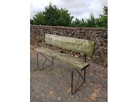 vintage french garden bench