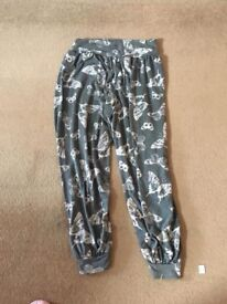 Two pairs of butteryfly trouser new