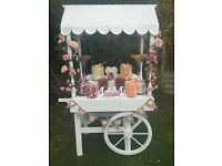 Beautiful traditional sweet cart to hire