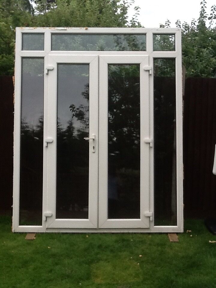 Upvc french doors with side windows in greenwich london for French doors with side windows that open
