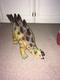 3 large toy dinosaurs rubber