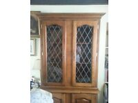 Display cabinet - two piece - VGC - MUST GO TODAY!