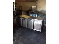 BENCH COUNTER FRIDGE TAKEAWAY SHOP COUNTER WORKTOP FRIDGE PREP SALAD FRIDGE CAFE SHOP USE