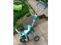 Toddlers ride along and push handle bike