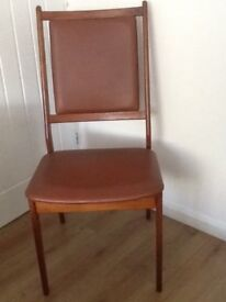 2 HIGHBACK LEATHERLOOK DINING CHAIRS