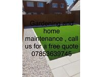 We provide a number of gardening and maintenance services including: