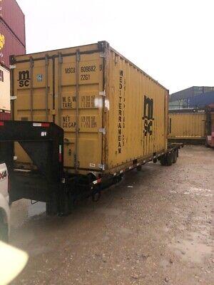Used 20 Dry Van Steel Storage Container Shipping Cargo Conex Seabox Dallas