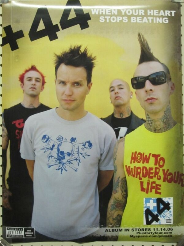 +44 2006 Heart Stops Beating Promotional Poster Flawless New Old Stock Blink 182