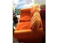 Free 2 seater sofa ideal for den or party shed