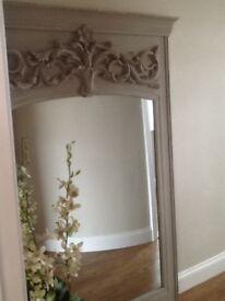 Shabby huge mirror