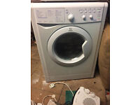 Reconditioned Indesit IWDC6143 1400 spin 6kg wash 5kg dry washer-dryer. 3 month money back guarantee