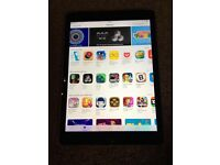 iPad Air 2 wifi and cellular space grey with keyboard case