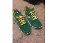 Size 10 Nike Huarache free 2012 court green.