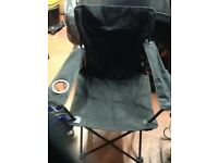 Fold up fishing chair with cup holder and back pocket,only £5,pos local delivery