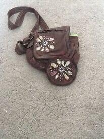 Girls Fat Face handbag and matching purse