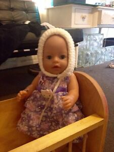 Near new baby born doll, original accessories and cot Beaumaris Bayside Area Preview