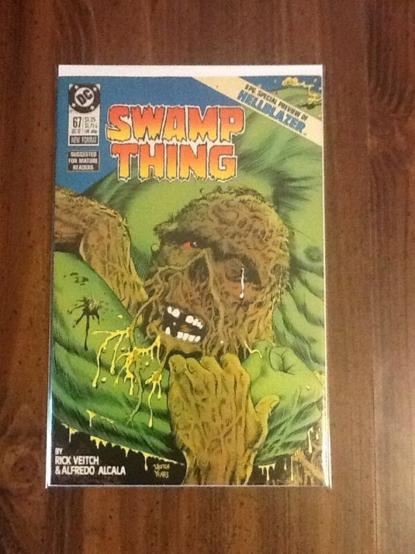 Swamp Thing #67 VF/NM ( Special Preview of Hellblazer).