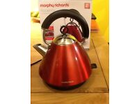 Morphy Richards Red Accents Traditional Kettle