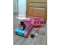 Electric train with trailer and charger