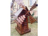 Wood Mill - Handmade Garden Decoration