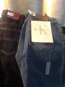 Tommy Hilfiger and Calvin Klein jeans