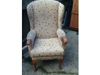 Fireside wing chair