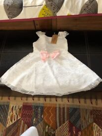 WHITE LACE DRESS 100 CM AND 130 CM AND 140 CM NEW