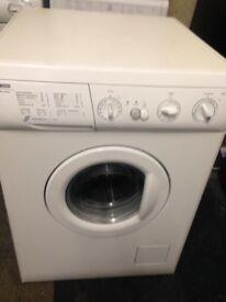 white zanussi 5kg 1200 spin washer dryer